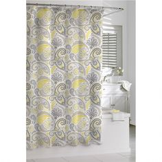 peach and gray shower curtain. Shower Curtain Kassatex Paisley Yellow Grey 72 x Cotton grey  peach mint blue Could make it into a shower curtain
