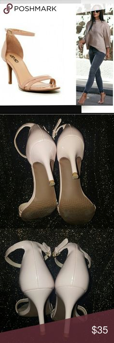"Abound Lustre Open toe Ankle Strap Heels Nude Abound Lustre Open toe Ankle Strap Heels Nude Heel Height: 3"" Like new condition From NORDSTROMS Nordstrom Shoes Heels"