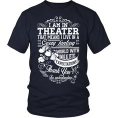 Theater - Crazy Fantasy - District Unisex Shirt / Navy / S - 2