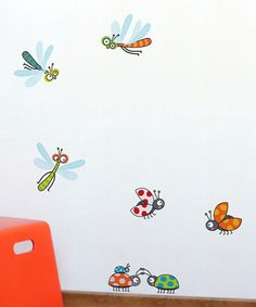 Dragonflies & Ladybugs Wall Decal Set