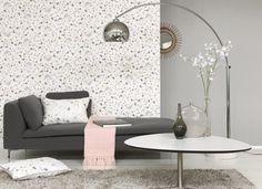 Collection MAGENTA. Bouquets, rayures,  finesse, romantisme, fleurs, blanc, gris, rose, vert, papier-peint, tissus