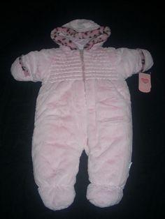 NEW NWT BABY INFANT GIRLS PINK LEOPARD BON BEBE WINTER SNOW SUIT SIZE 6 9 MONTHS #bonbb #Snowsuit #Everyday
