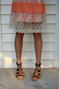 Ivory Lace Trimmed Slip 1 Layer by BabblingsAndMore on Etsy, $27.00