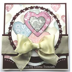 Anniversary card using papermania vintage notes papers and spellbinder dies