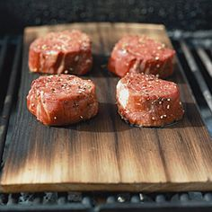 Cook everything from tuna to tenderloin on a wood plank for extra-smoky flavor. Cedar Grill, Smoked Tuna, Grilled Tuna Steaks, Grilling Planks, Cooking On The Grill, Cooking Tips, How To Grill Steak, Wood Planks, Cedar Planks