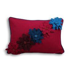 Cojín Pippa 35 x 50 cm, ciruela/azul