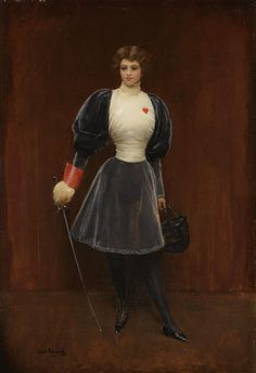 The Fencer, ca. 1890's by Jean Béraud (French 1849 – 1935)