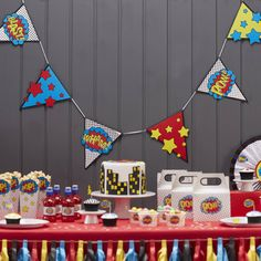 Comic Superhero Party Bunting : international shopping for Comic Superhero Party…