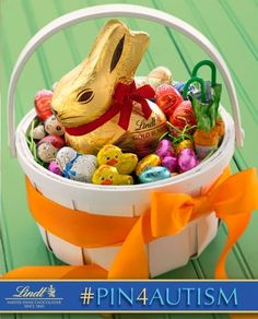 Building Easter Baskets is a favorite Easter tradition of mine!         [I just donated 1 dollar to the Autism cause by pinning this photo. Learn how you can #Pin4Autism too by clicking on the image above.] http://media-cache3.pinterest.com/upload/153333562283160268_RF0kBjbD_f.jpg lindtchocolate pin4autism