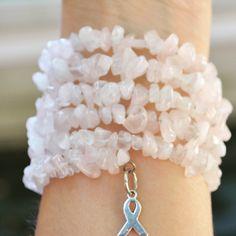Pink breast cancer awareness bracelet