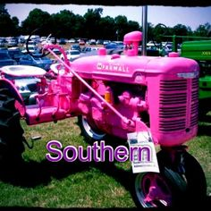 We have tractors in the south and some are pink:)