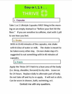 Do you want to Thrive with me? Are you needing a change in your life? Thrive might just be the one thing you are missing...let me help you get your life back!! Message me today to see what Thrive has to offer! www.jodiekay11.le-vel.com