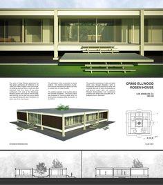 https://flic.kr/p/7E22k5   Arc 251   Plans, sections, and V-Ray renders of Craig Ellwood's Rosen House.