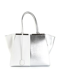 FENDI '3Jours' Tote bag... White&Silver... always a great match!