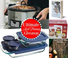 ENDS 4/25 Maximum ARV of all prizes: $130. Prize includes: Crock-pot Programmable Slow Cooker, Pyrex 8-Piece Bakeware Set, Rubbermaid 34-Piece Storage Set, The Meal Planning Game Plan, and Ultimate Meal Planning Printables . http://thenymelrosefamily.com/giveaways/ultimate-meal-planning-giveaway?lucky=137 via @melrosefam