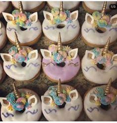 I Unicorn Baby Shower, Unicorn Cupcakes, Afternoon Tea, 3rd Birthday, Unicorns, Your Favorite, Donuts, Hello Kitty, Desserts
