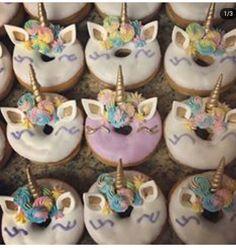 I Unicorn Baby Shower, Unicorn Cupcakes, 3rd Birthday, Afternoon Tea, Unicorns, Donuts, Hello Kitty, Cookies, Desserts