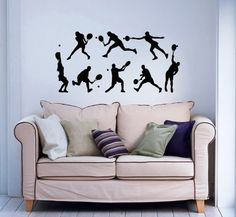 Tennis Players Wall Decals Sport Vinyl Sticker Home Interior Decor for Any Room Housewares Mural Design Graphic Bedroom Wall Decal (5720) stickergraphics http://www.amazon.com/dp/B00K90HU0O/ref=cm_sw_r_pi_dp_DMpWtb1YNTQG7QWD