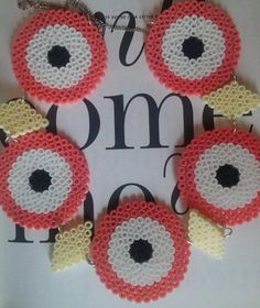 Marimekko inspired statement necklace made of by coffeeANDpaper