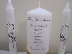 Wedding Unity Candles  I will  Marry my by frenchcountry1908, $25.99