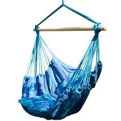 Prime Garden Seaside Stripe Soft Comfort Hanging Hammock Chair