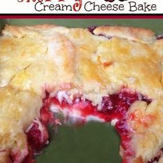 Cherry Cream Cheese Bake Recipe (could use any pie filling)