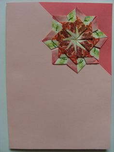 Teabag folding / origami card Kaart theezakjes vouwen / origami