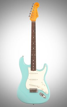 Fender Eric Johnson Stratocaster Electric Guitar (Rosewood with Case), Tropical Turquoise