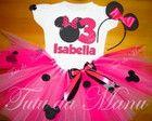 Fantasia Tutu Minnie pink e rosa