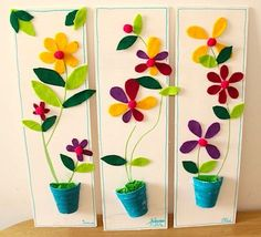 : Un joli pot de fleurs en feutrine