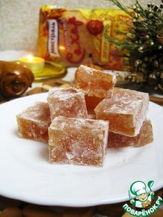Spicy Turkish delight with nuts Vegan Recipes Plant Based, Vegan Recipes Easy, Baking Recipes, Dessert Recipes, Russian Desserts, Russian Recipes, Good Food, Yummy Food, Cakes And More