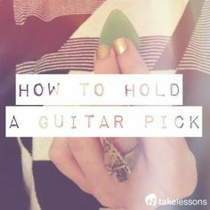 Guitar Master's Guide: How to Hold a Guitar Pick
