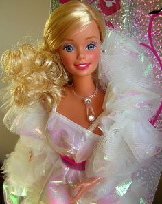 80's Crystal Barbie..think I still have her, with chopped up hair