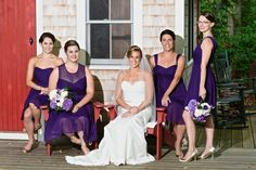 Florals by Mitchell & Company Designs and Events. Purple Hydrangea Wedding, Wedding Flowers, Bridesmaid Dresses, Wedding Dresses, Dark Purple, Florals, Events, Inspiration, Design