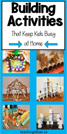 Over 45 hands-on building challenges for kids to do at home. Use simple materials for these building activities for elementary - in the classroom or at home. #buildingchallenge #stembuildingchallengesforkids #stemchallenges #buildingactivitiesforelementary