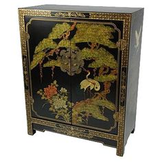 Found it at Wayfair - Chinese Black Lacquer Cabinet