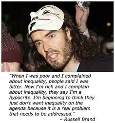 Russell Brand on inequality… (and he's vegan too! he cares about people AND animals ~ HURRAY!)  #MyVeganJournal