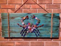Beer cap crab tealwashed