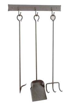 Uniflame® Bronze Finish Wrought Iron 5-Piece Fireplace Tools Set ...
