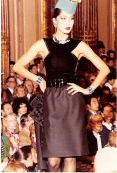 1982-83 - YSL Couture Show - Anna Bayle