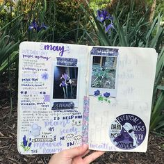 these irises at my house are blooming and are great for bullet journal inception. i have to say, i am really liking this week's spread. it might have something to do with the fact that purple is my favorite color 💜 this sticker from @owlcrate is such a pretty color and i love the quote. anyway, i'll probably go back to posting more often now that the sky isn't gray 24/7 . . . . . . #bulletjournaling #bulletjournalss #theartofbujo #bujoideasrepost #studyfeatures #irises