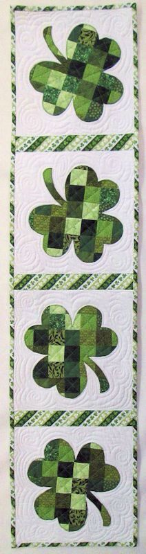 St Patrick's day table runner