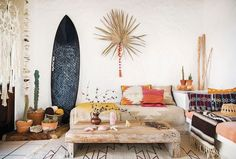 Ride the Surf-Culture Wave into Your Living Room  | follow @shophesby for more gypset boho modern lifestyle + interior inspiration www.shophesby.com