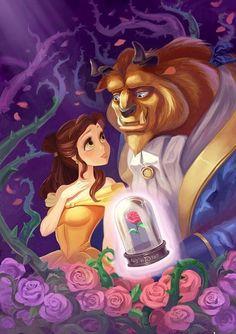 Beauty & the beast disney movies & characters красавица и чудовище, Disney Fan Art, Disney Pixar, Disney E Dreamworks, Disney Amor, Film Disney, Disney Couples, Cute Disney, Disney Girls, Disney Cartoons