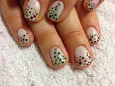Brush up and Polish up!: CND Shellac Christmas Nail Art - #7 Charmed Collection Dotticure