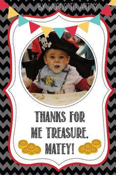 CUSTOM Jake and the Neverland Pirate Matching Thank you Cards - Birthday Party Invitations-- pirate birthday -- made to order on Etsy, $9.00