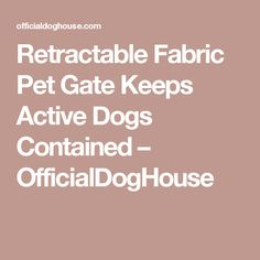 Retractable Fabric Pet Gate Keeps Active Dogs Contained – OfficialDogHouse