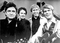 """The Glen Campbell Goodtime Hour "" Johnny Cash, Merle Haggard, Buck Owens & Glen Campbell."