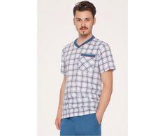 Pijama barbati Nightwear, Button Down Shirt, Men Casual, Mens Tops, Shirts, Fashion, Moda, Dress Shirt, La Mode