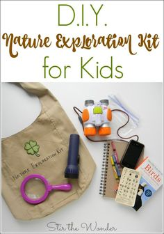 Do your kids love exploring and collecting nature? Mine sure does! Which is why I put together this simple D.I.Y. Nature Exploration Kit for Kids!